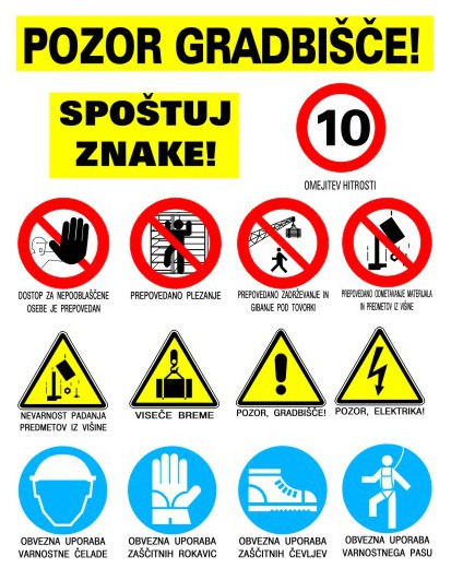 Warning boards and labels